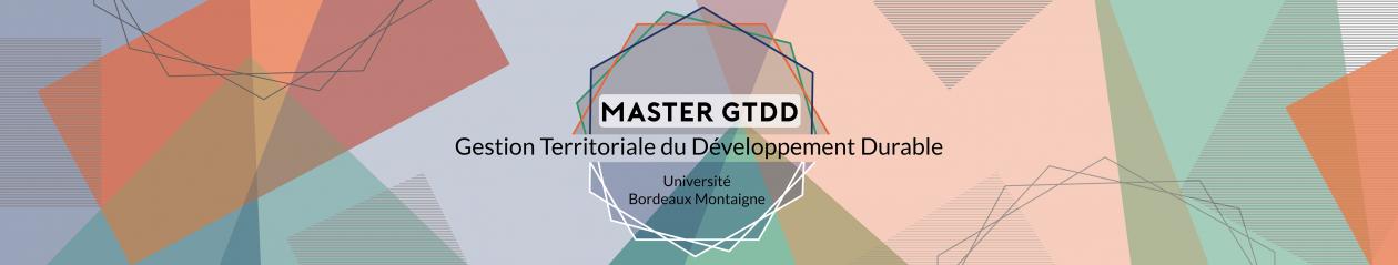 Master Gestion Territoriale du Développement Durable